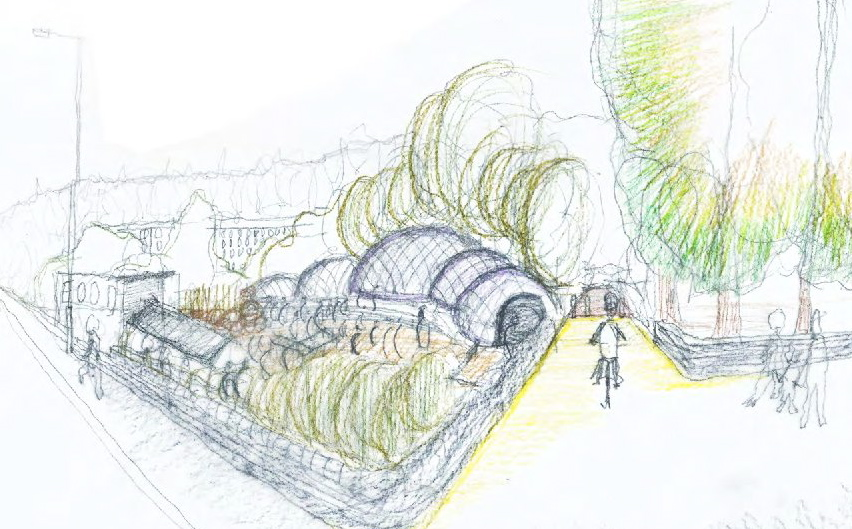 Ewan Tavendale's drawing of GFA indoor grow houses