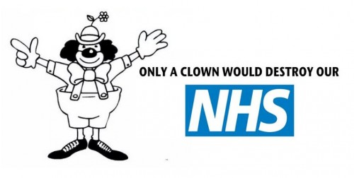 only clown would destroy NHS_JS