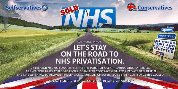 Lets stay on road to NHS Privatisation