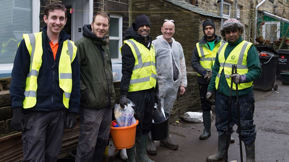 Volunteers from Hebden Bridge and Bradford-based Human Relief Foundation in Hebden Bridge - photo credit: HRF