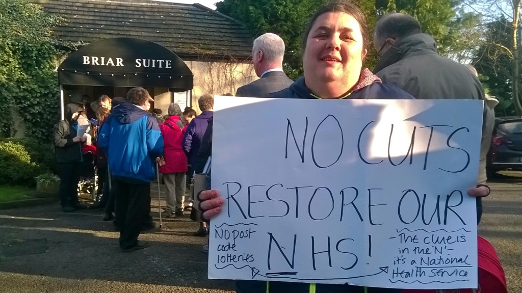 Katherine no cuts restore NHS