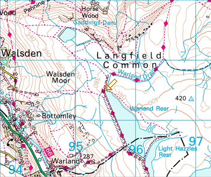 LAngfield Common map